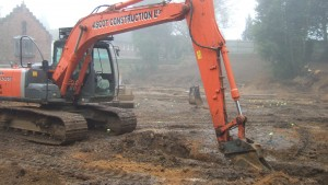Foundations being excavated in Surrey